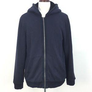 Armani Exchange NVY Fleece Lined Hoodie